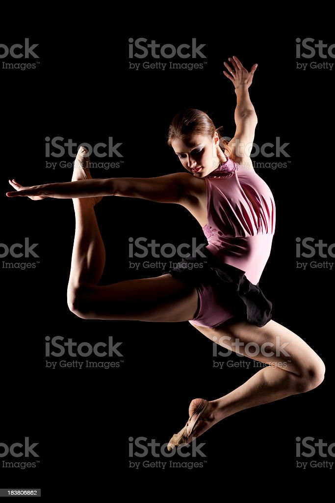 Dancer on black background royalty-free stock photo