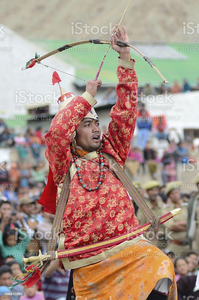 Dancer on Festival of Ladakh Heritage stock photo