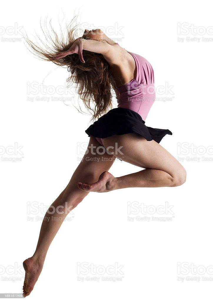 Dancer on white background stock photo