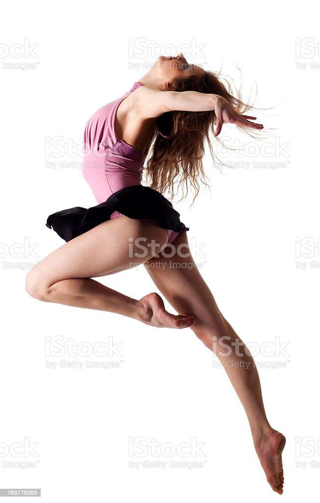 Dancer on white background royalty-free stock photo