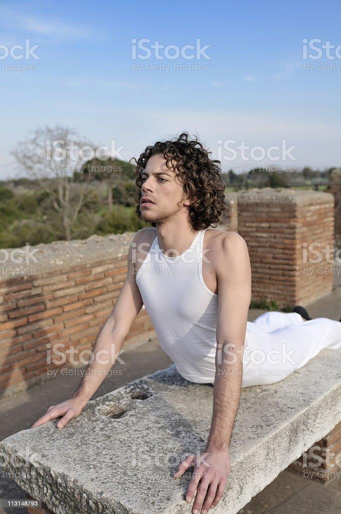 Dancer Pose Like A Sphinx stock photo