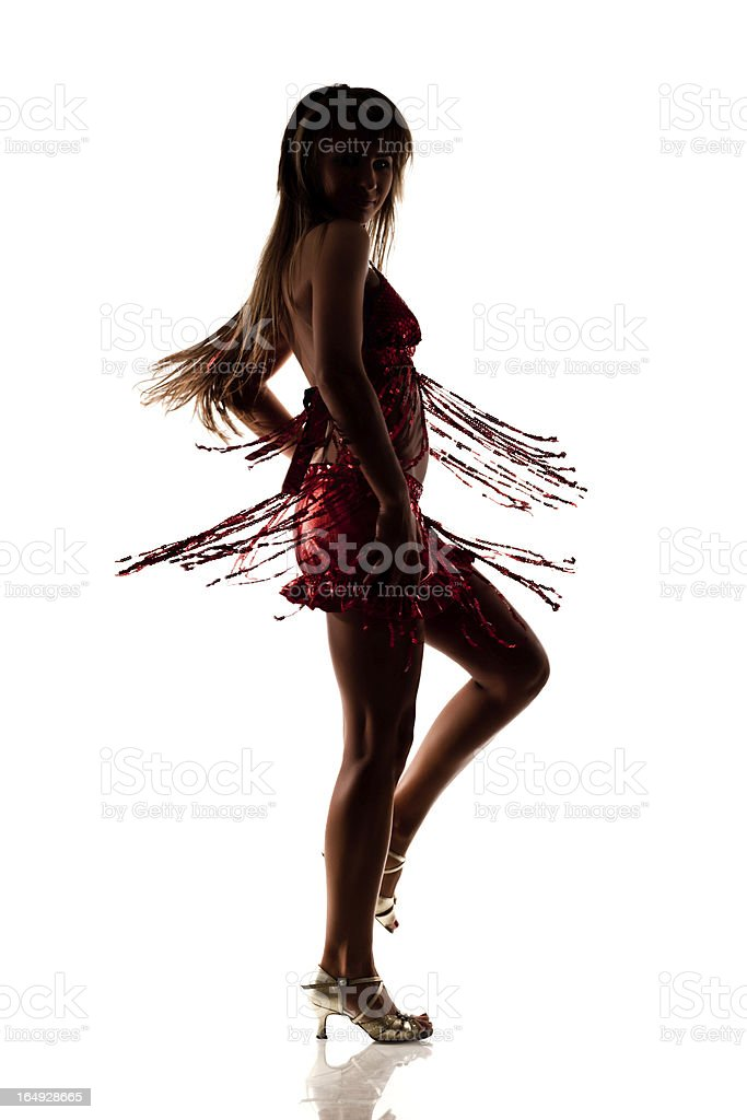 Dancer Silhouette royalty-free stock photo