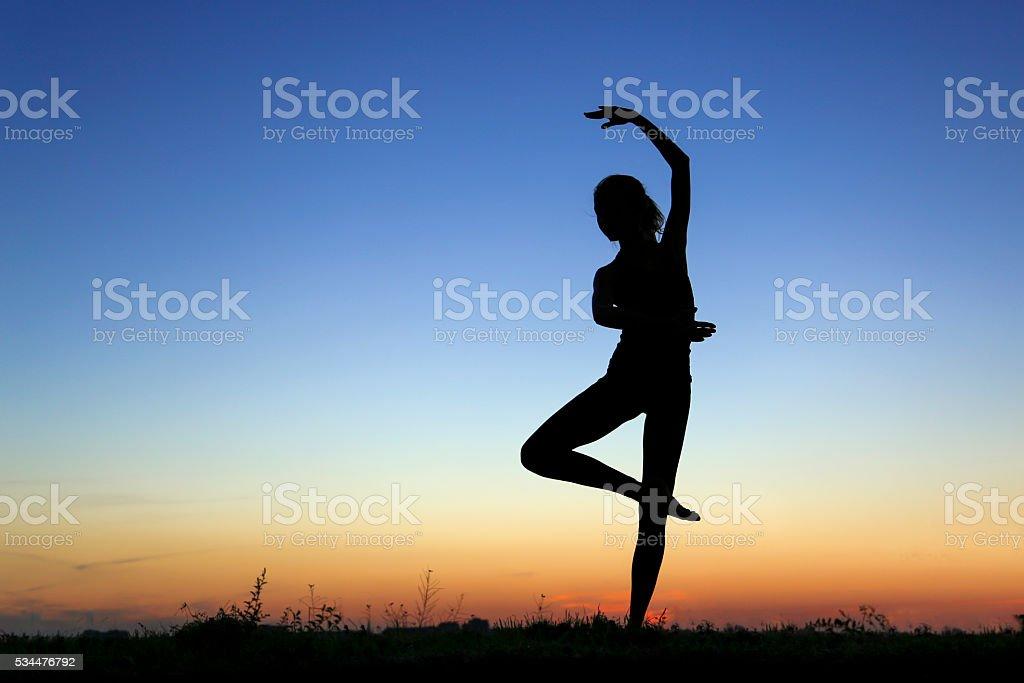 Dancer silhouette stock photo