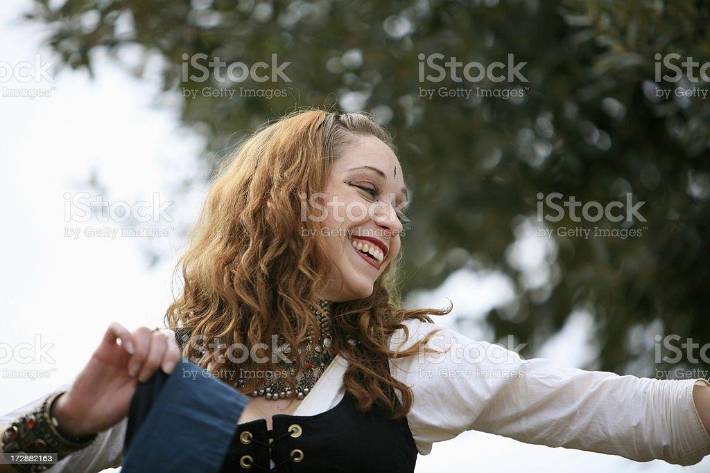 Ballerino sorridente foto stock royalty-free