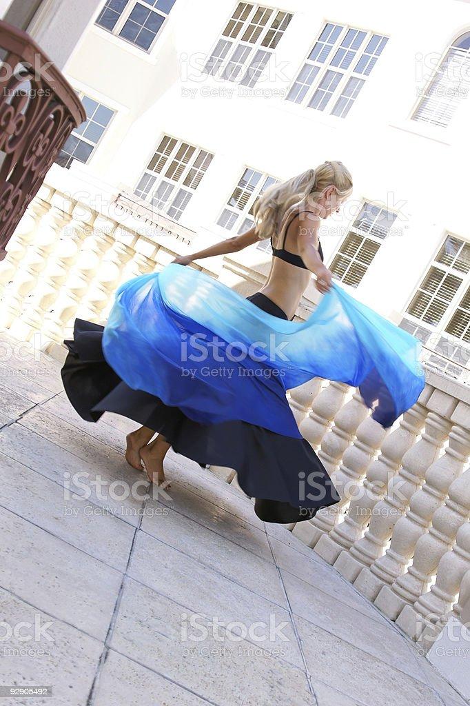 dancer spinning stock photo