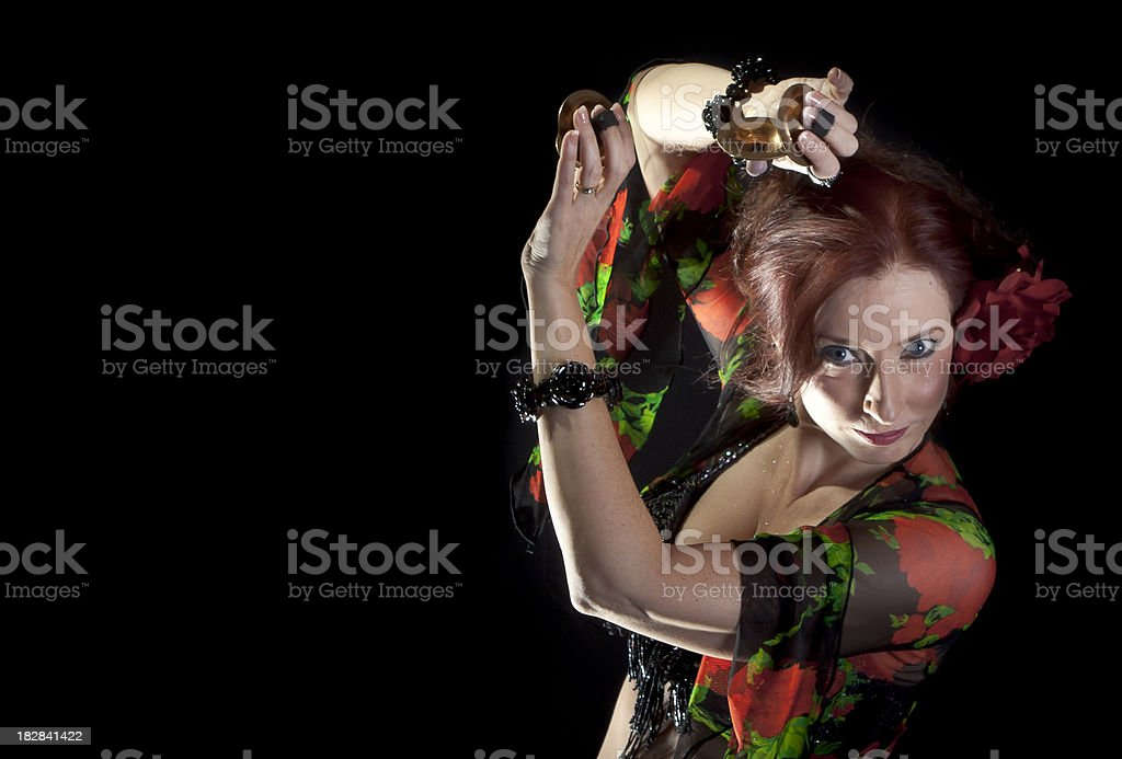 Dancer with finger cymbals stock photo