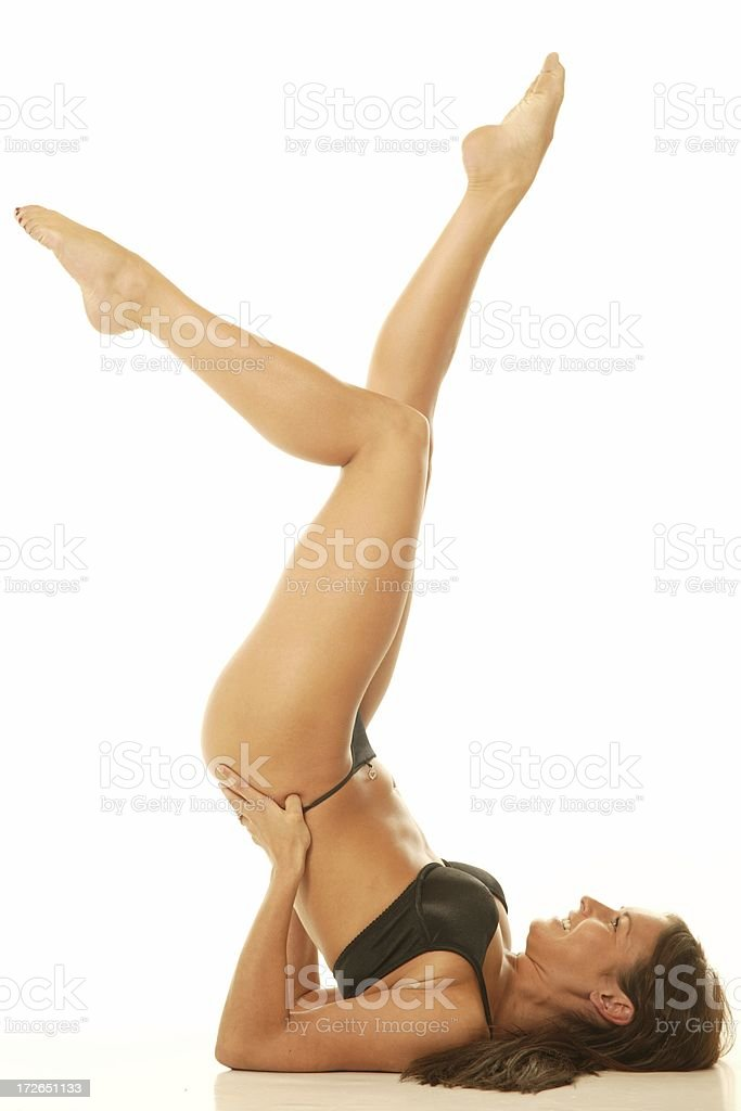 dancer with legs in air royalty-free stock photo