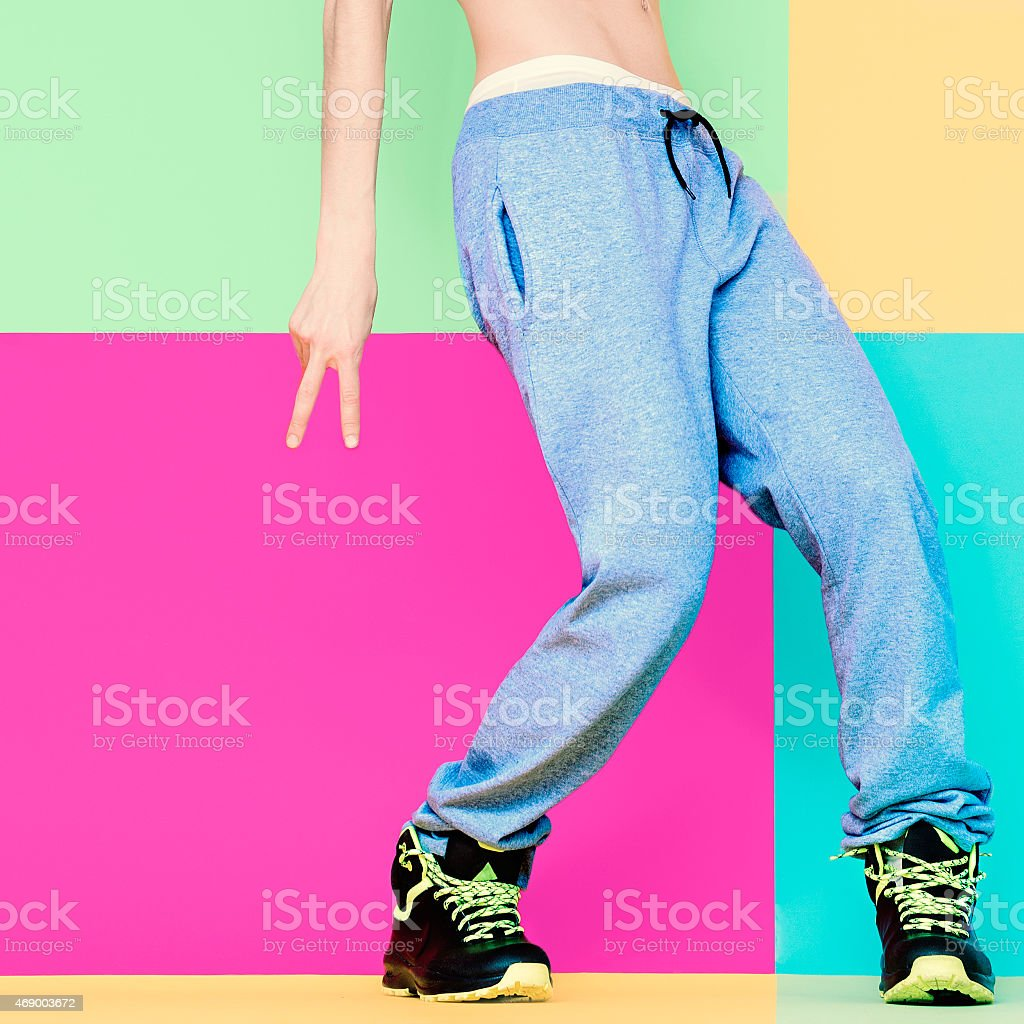 Dancer's feet on bright background. Dancing, Active, Sport, Fash stock photo