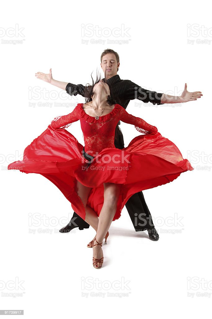 dancers in action isolated on white stock photo