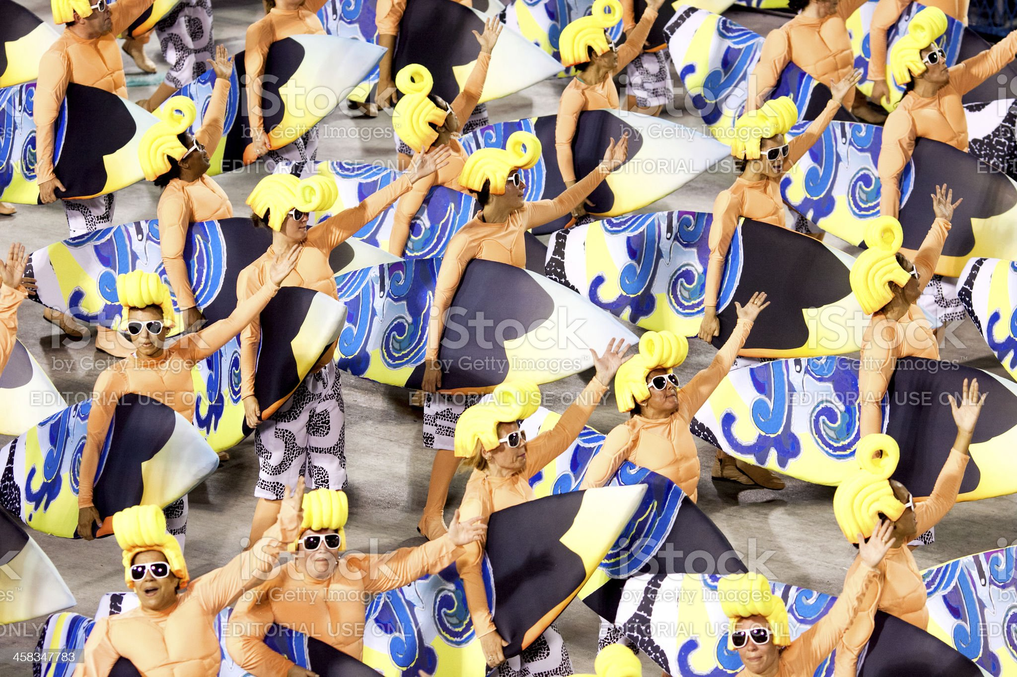 Dancers in costume at carnival. Rio de Janeiro 2013 royalty-free stock photo