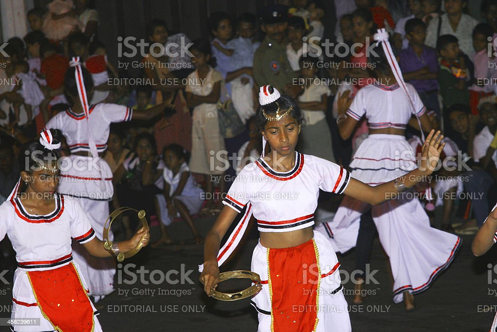 dancers participate the festival Pera Hera in Candy royalty-free stock photo