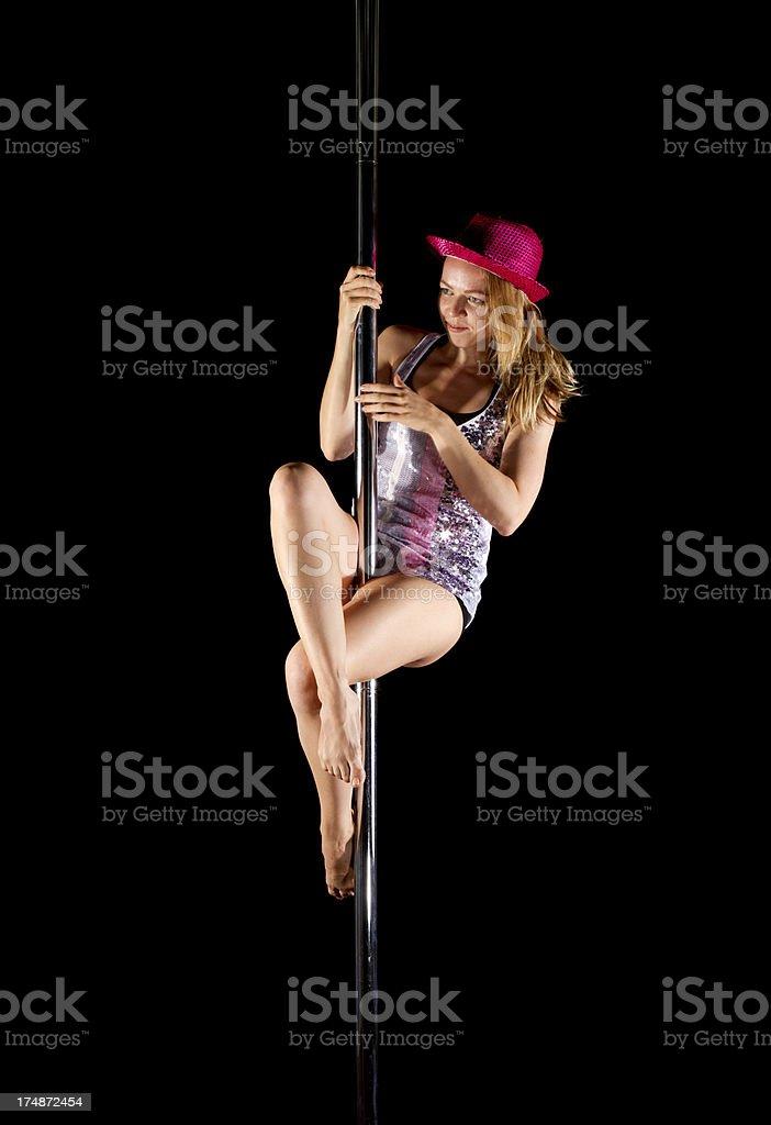 Dances pole royalty-free stock photo