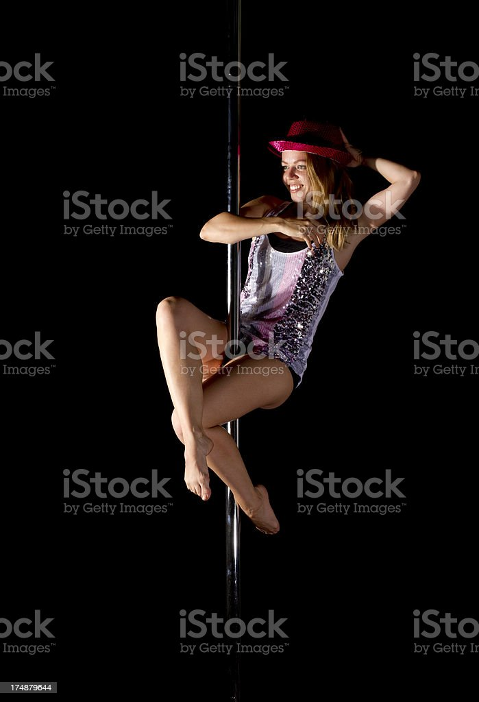 Dances pole royalty-free stock photo
