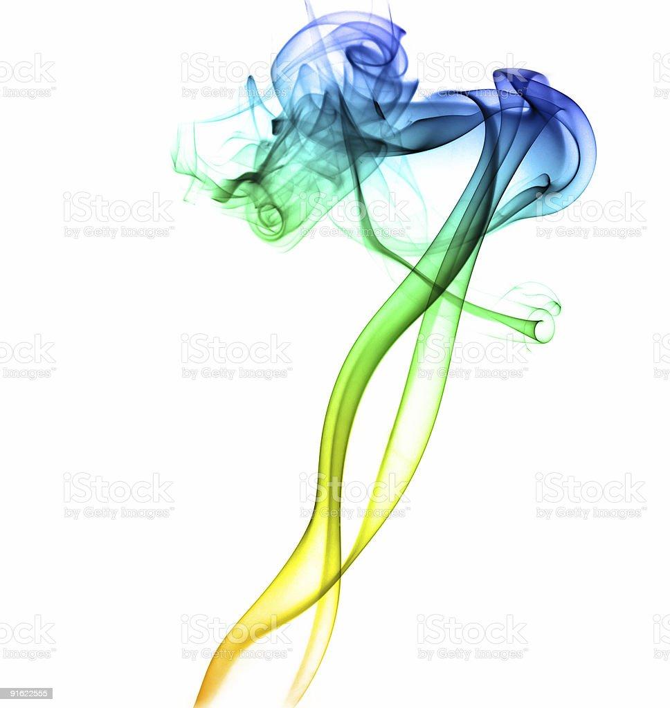 Dancing abstract smoke royalty-free stock photo