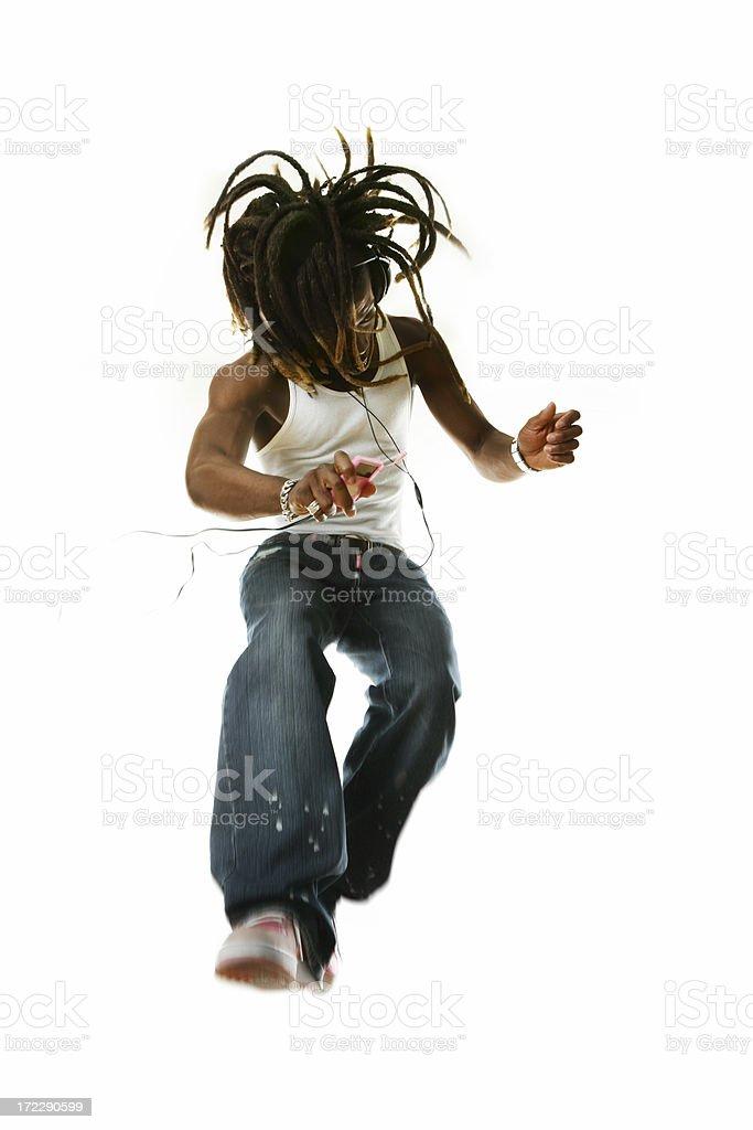Dancing and jumping royalty-free stock photo