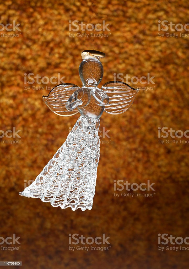 Dancing angel from a glass royalty-free stock photo