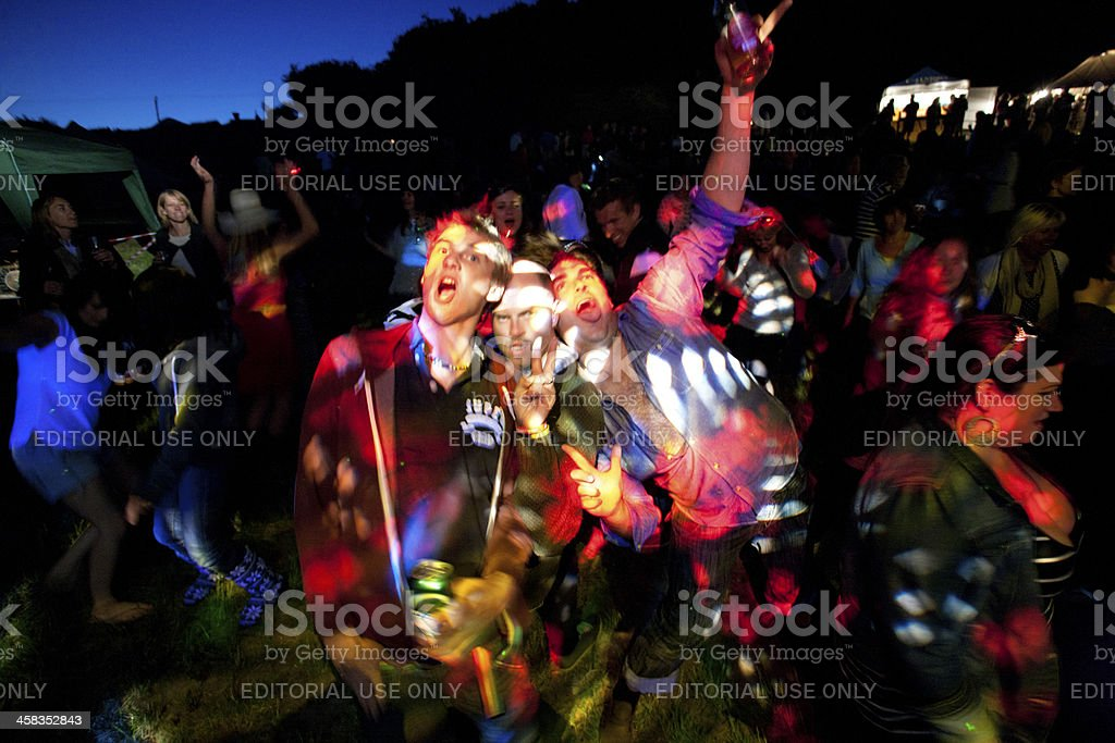 Dancing at a live music event royalty-free stock photo
