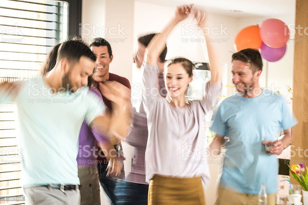 Dancing at a party stock photo