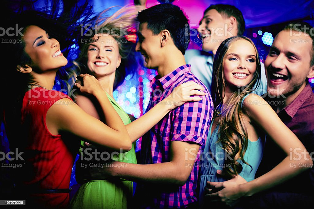 Dancing at disco royalty-free stock photo