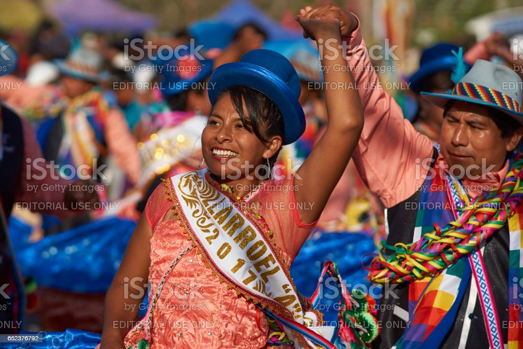 Dancing at the Arica Carnival stock photo
