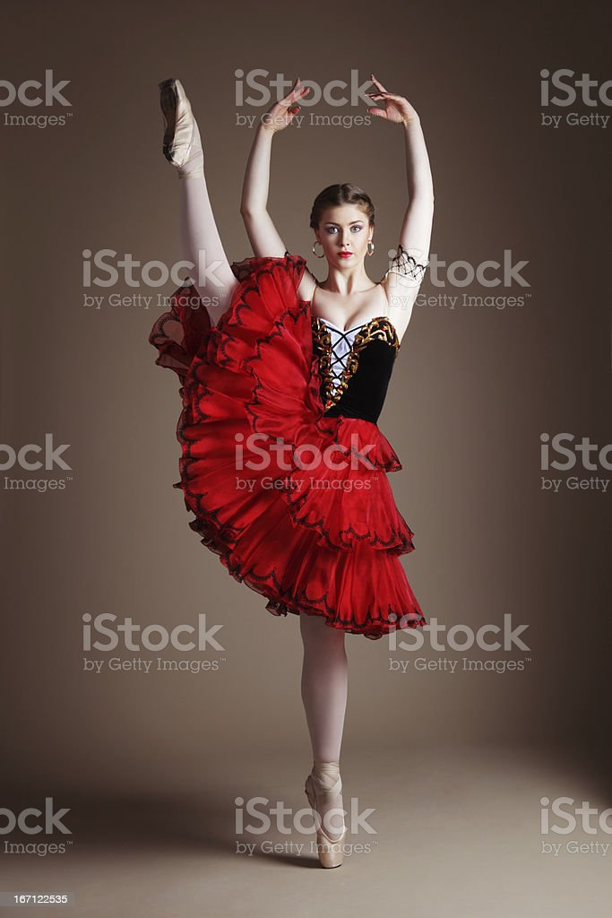 Dancing ballerina royalty-free stock photo
