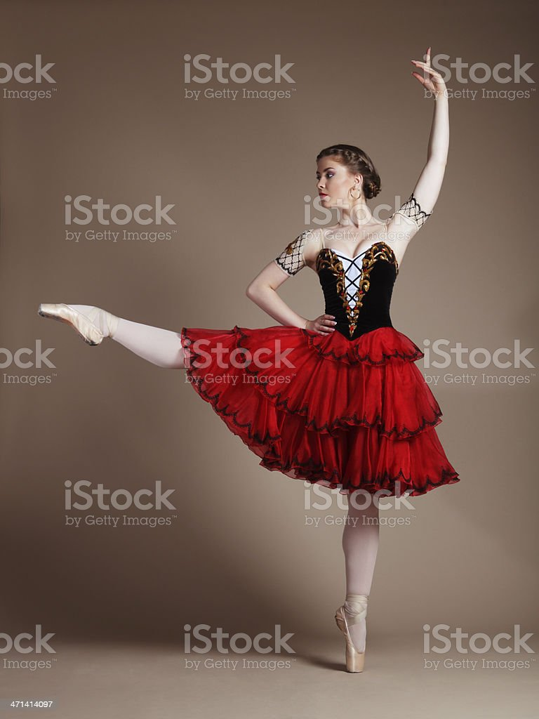 Dancing ballerina stock photo