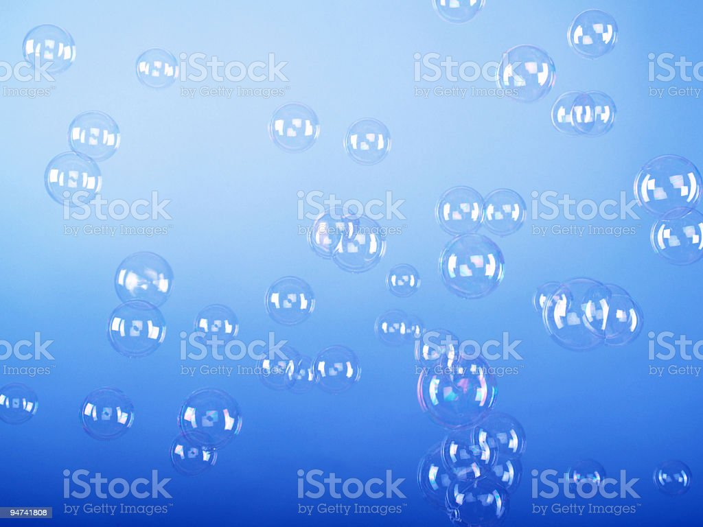 Dancing Bubbles royalty-free stock photo