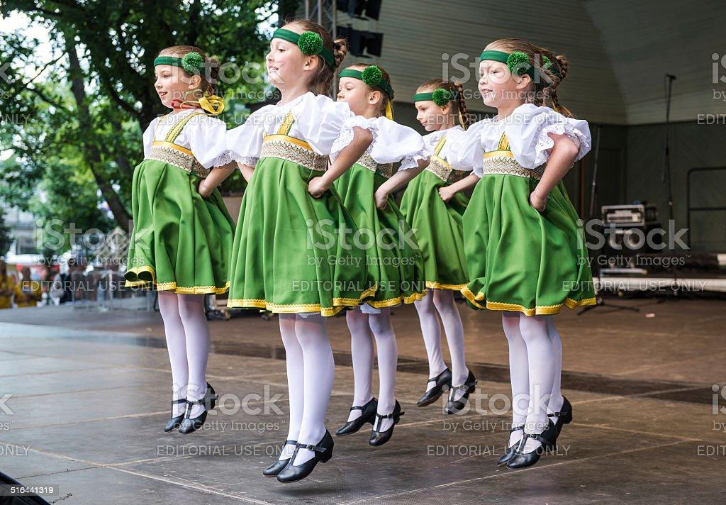 Dancing children stock photo