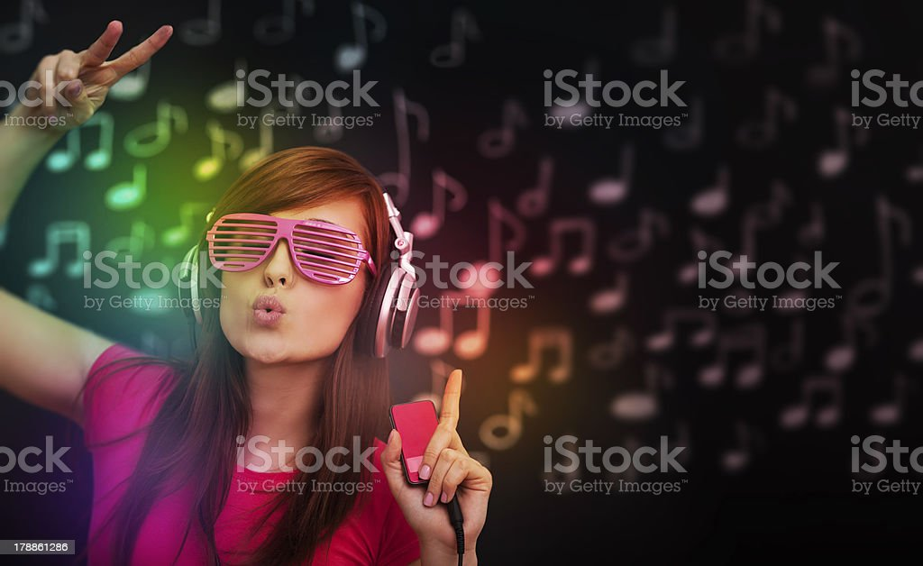 Dancing crazy woman royalty-free stock photo