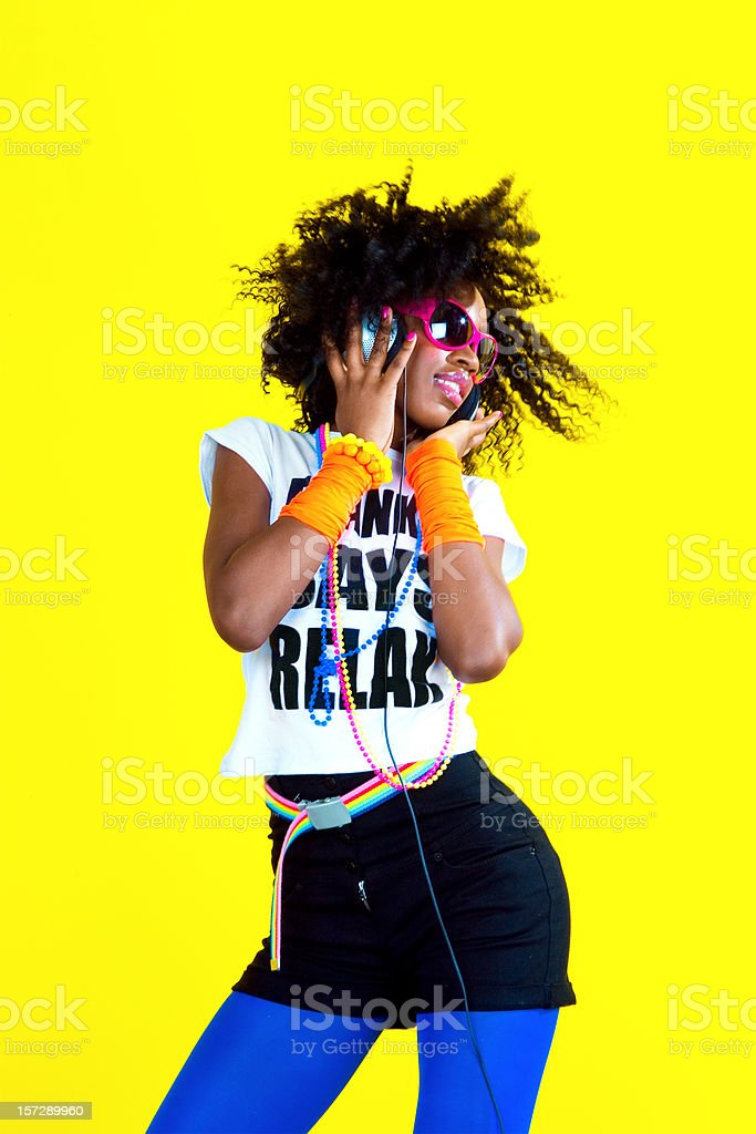 Dancing Disco Chick royalty-free stock photo