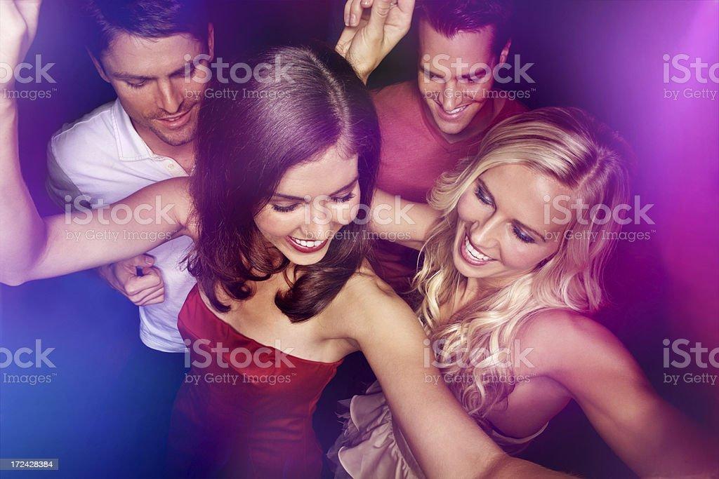 Dancing divas royalty-free stock photo
