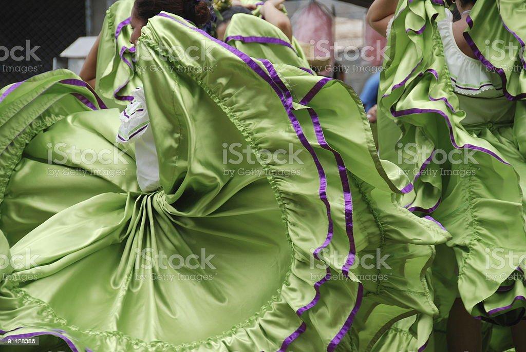 Dancing Dresses royalty-free stock photo