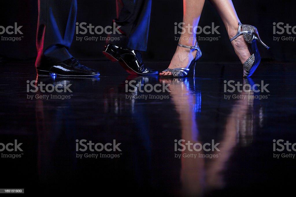 Dancing feet. stock photo