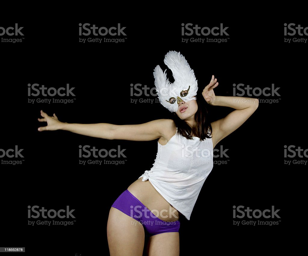 dancing female royalty-free stock photo
