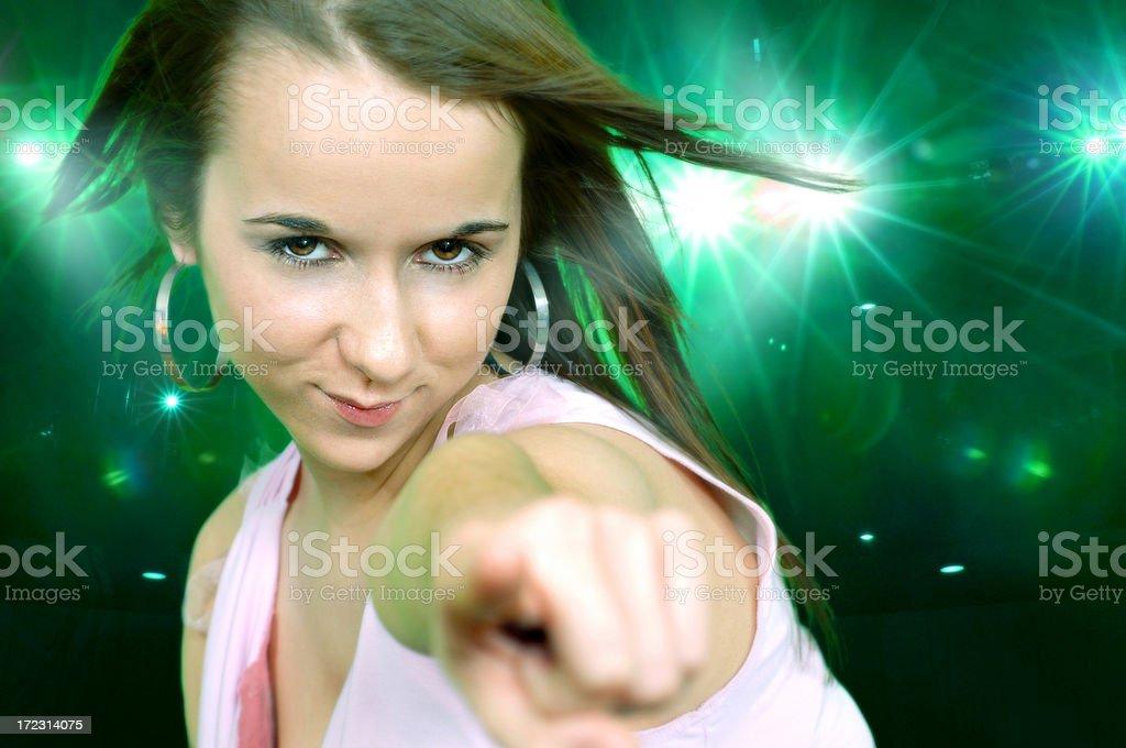 dancing female royalty-free stock photo