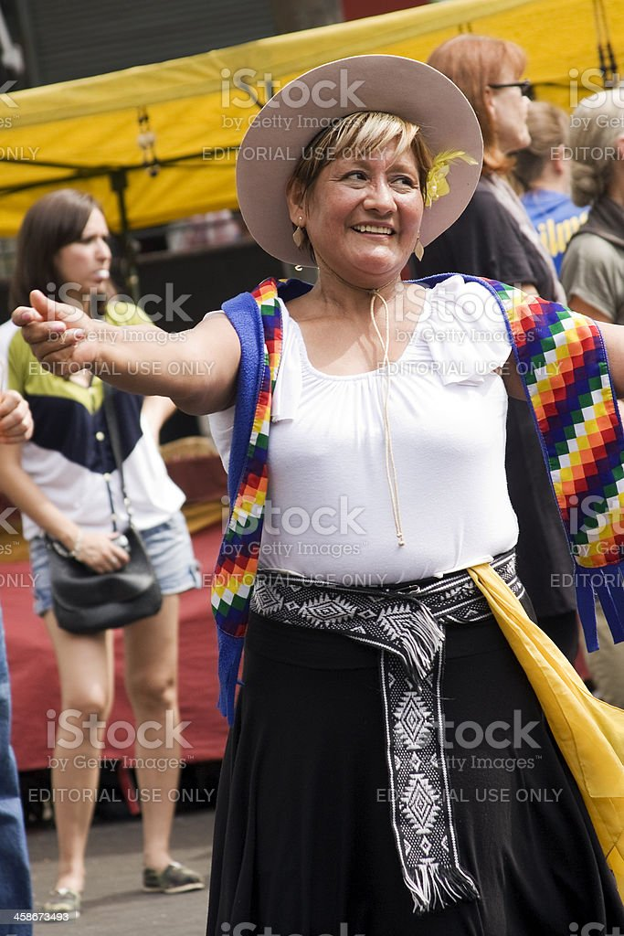 Dancing Folklore royalty-free stock photo
