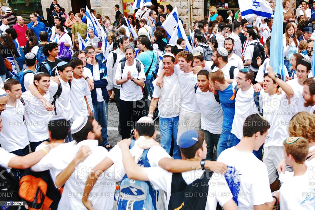 Dancing for the Independence of Israel. stock photo