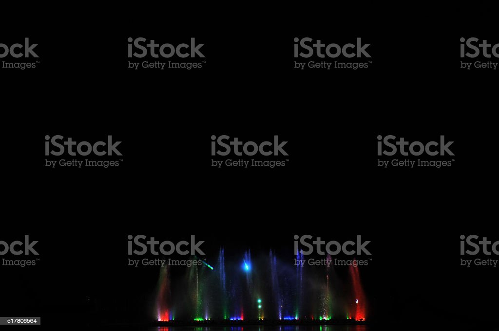 dancing fountains stock photo