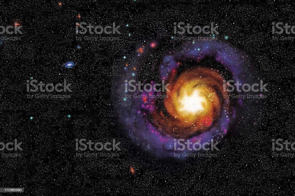 Dancing galaxy stock photo