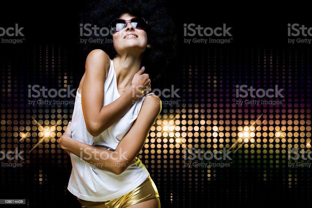 Dancing girl royalty-free stock photo