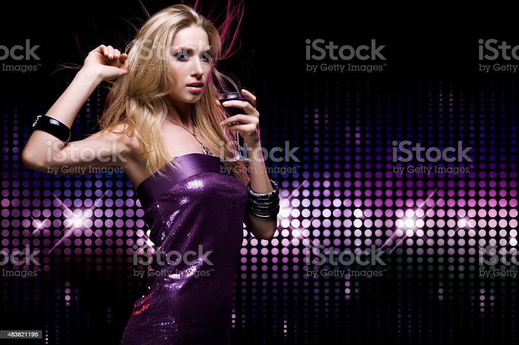 Dancing girl royalty-free stock photo