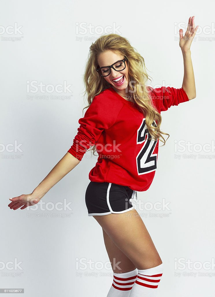 Dancing girl stock photo