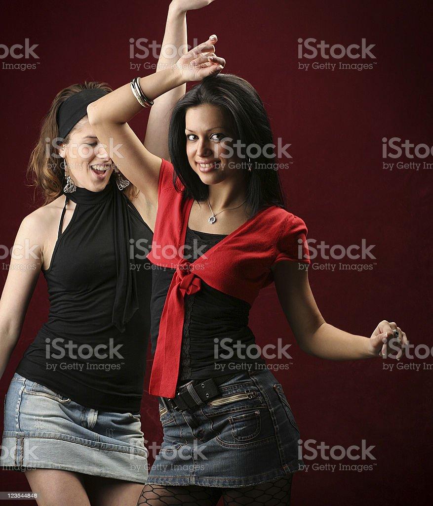 Dancing girls royalty-free stock photo