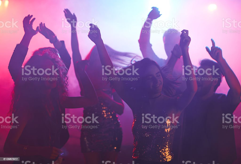 Dancing girls stock photo