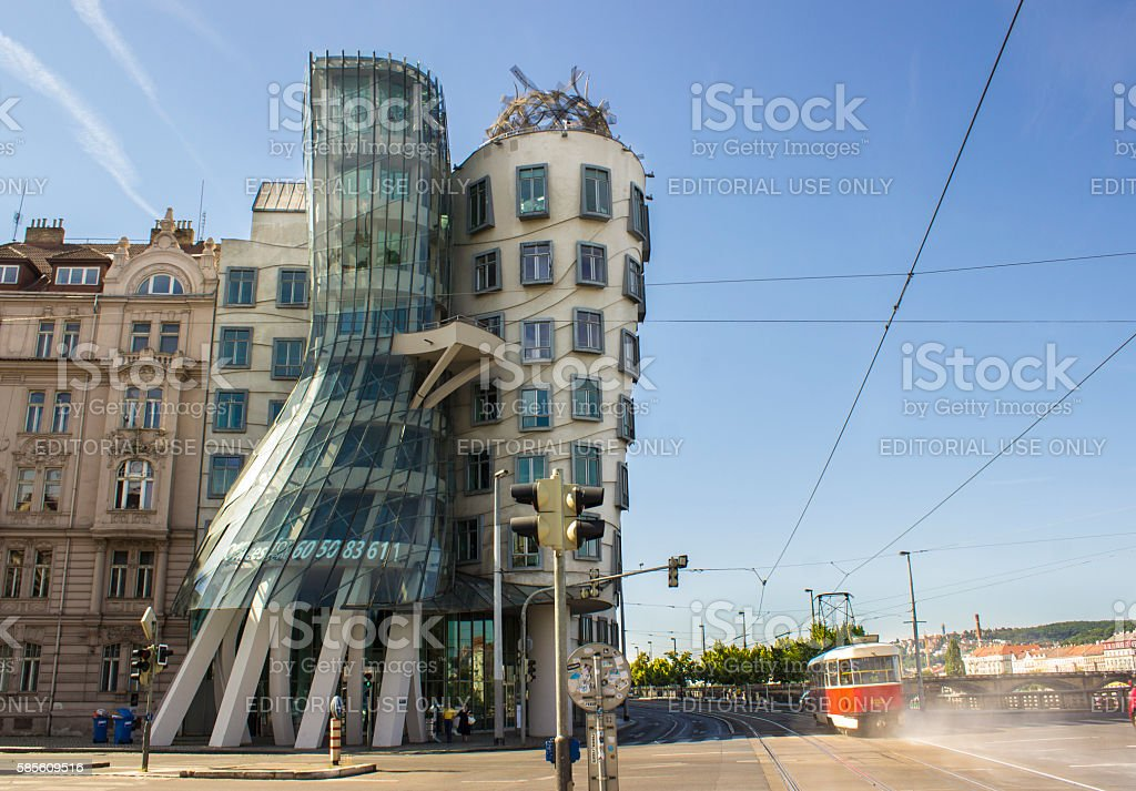 Dancing House in Prague Czech Republic stock photo