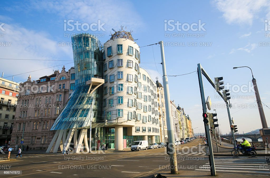 Dancing House in Prague, Czech Republic stock photo