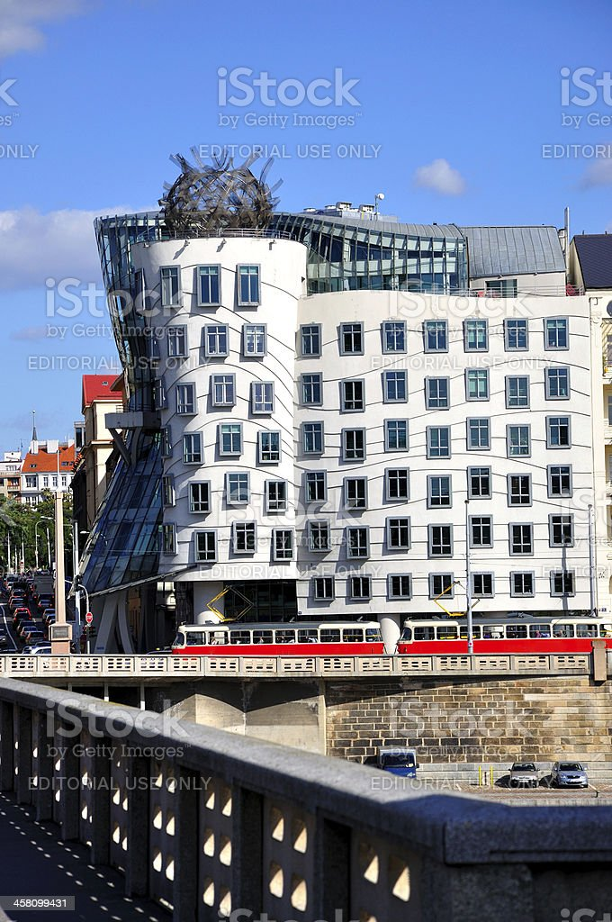 Dancing house stock photo