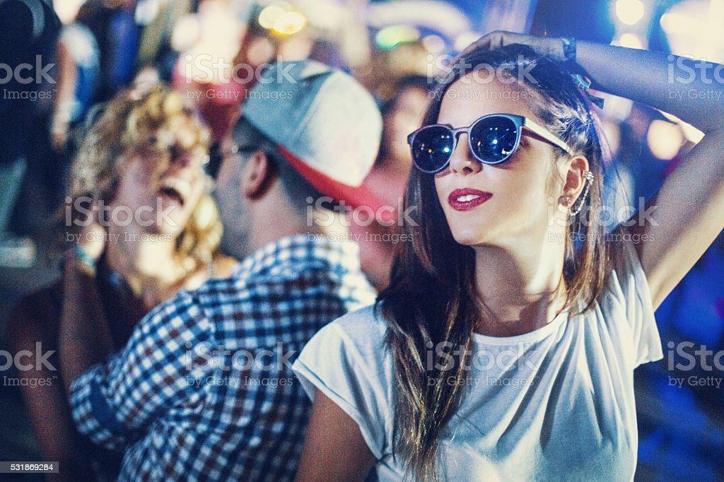 Dancing in a nightclub. stock photo