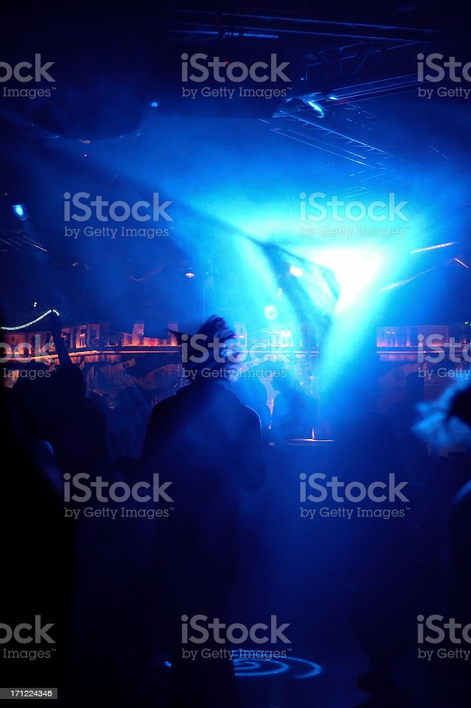 dancing in blue stock photo
