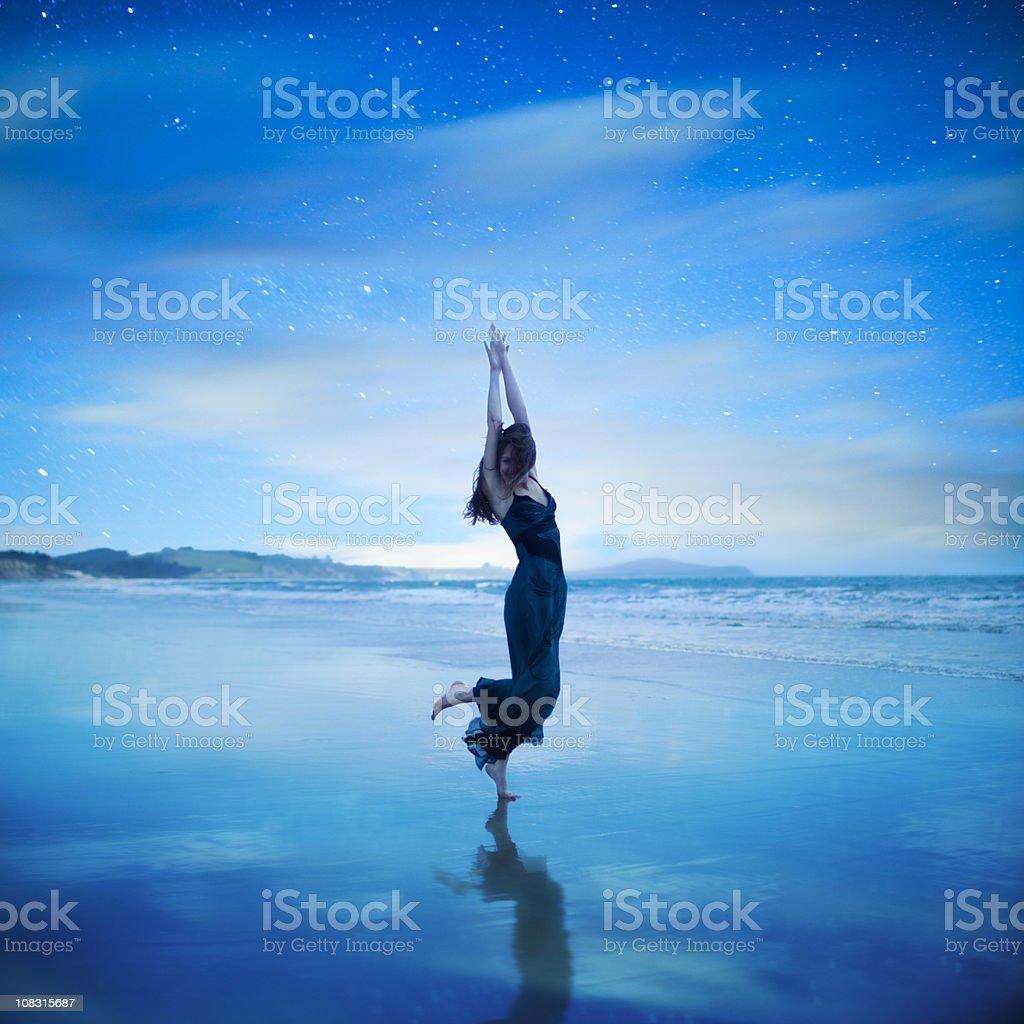 Dancing in dreams royalty-free stock photo